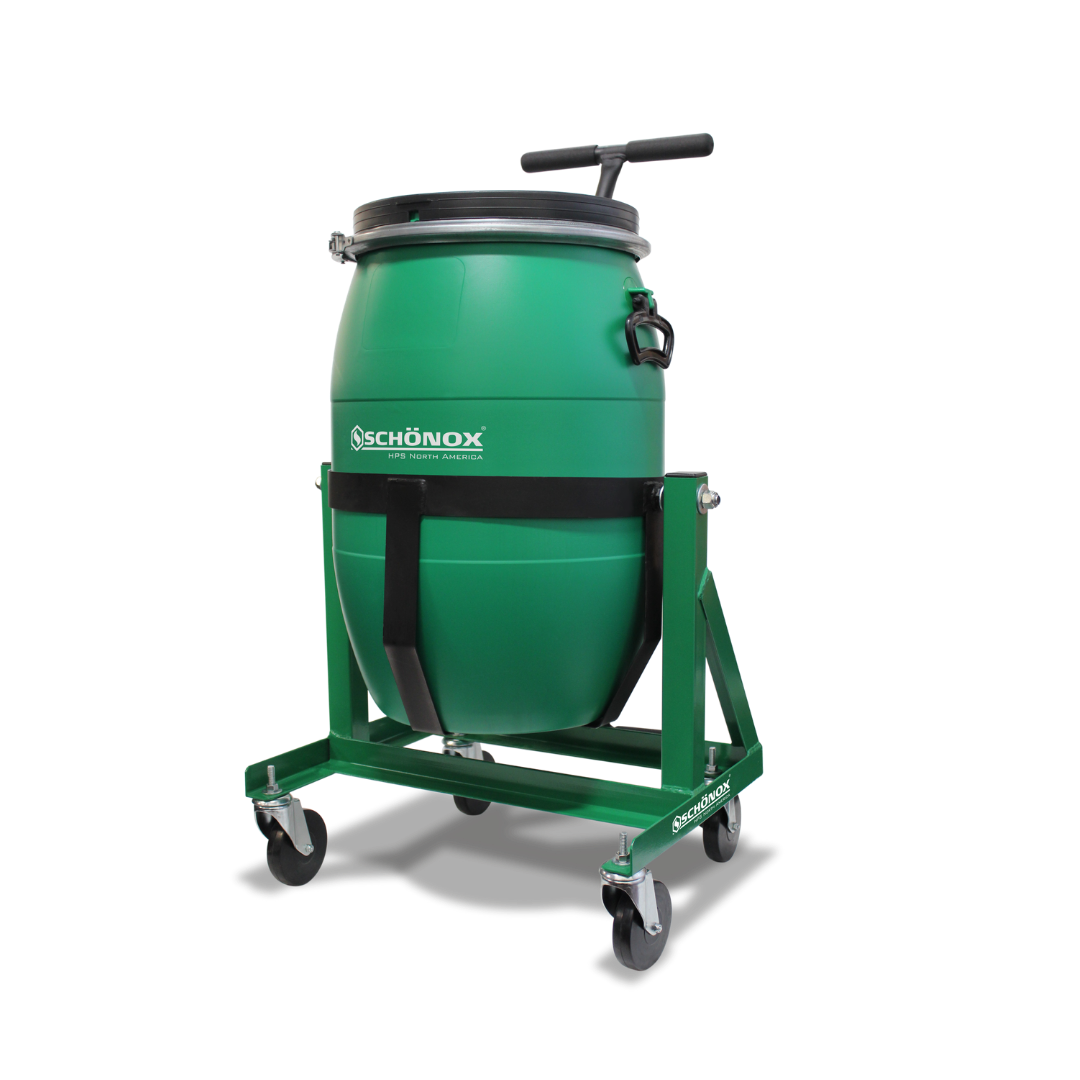 Image of Schönox 15 Gallon Mixing Barrel & Cart